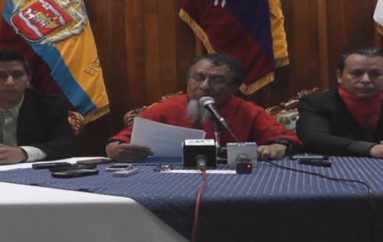 (Video) Colectivo Petrona Alulima iniciará revocatoria de mandato del Alcalde de Loja José Bolívar Castillo.