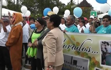 (Video) Adultos mayores participaron de la inauguración de sus primeras jornadas deportivas