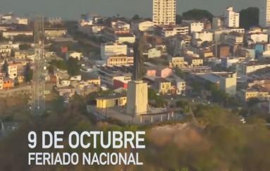 (Video) Feriado del 9 de octubre por la Independencia de Guayaquil, no será recuperado.