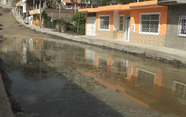 (Video) Moradores de Nueva Esperanza solicitan celeridad en trabajos para asfaltado de calles
