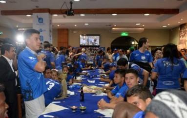 Emelec celebró el tricampeonato en la Parrilla del Ñato