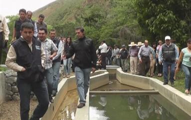 (Video) Autoridades inauguraron primera fase del sistema de riego San Vicente