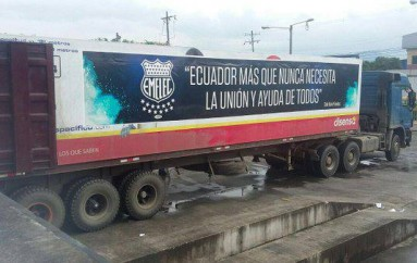Emelec envía un contenedor para los damnificados de Manabí