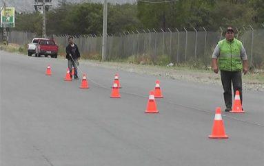 (Video) Ministerio de Obras Públicas realizó trabajos de señalización horizontal de vía