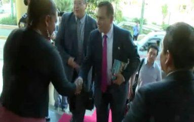 (ZAMORA) Autoridades del Perú visitaron la Gobernación.