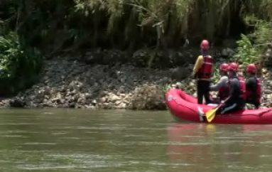 (ZAMORA) Continúan labores de búsqueda en el Rio Zamora
