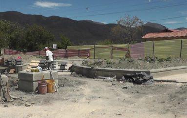 (Video) Continúa la construcción del parque en La Vega.