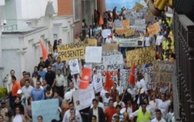 (Video) Califican de exitosa a la marcha y amenazan con  iniciar revocatoria de mandato a la autoridad municipal.