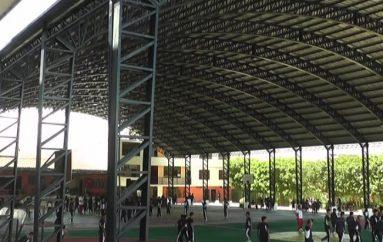 (Video) Fue inaugurada la cubierta de cancha en Unidad Educativa San Juan Bautista