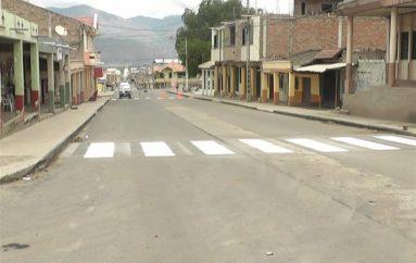 (Video) Unidad de Tránsito realiza señalización horizontal en calles de Nueva Esperanza