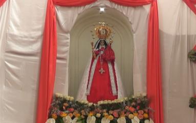 (Video) Imagen de la Virgen de El Cisne es visitada por católicos en San Pedro de la Bendita
