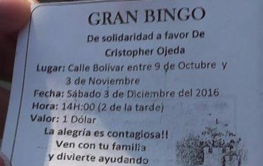 (Video) Padres del menor el cual padece neurofibromatosis realizarán bingo solidario.