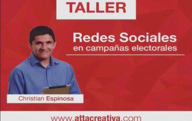 (Video) Taller Redes Sociales en tiempo de campaña electoral este 17 de diciembre.