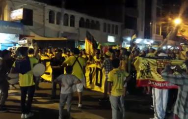 (Video) Suspensión de evento no bajó ánimos de hinchas para festejar a Barcelona S.C.