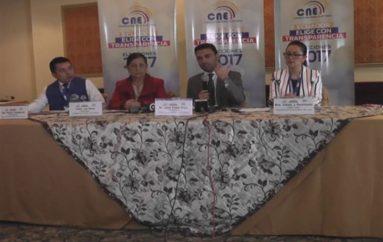 (Video) Presidente  del CNE informa sobre el cronograma regresivo del proceso electoral a cumplirse el próximo mes.