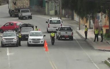 (Video) Policía Nacional realiza operativos en las vías de Catamayo.