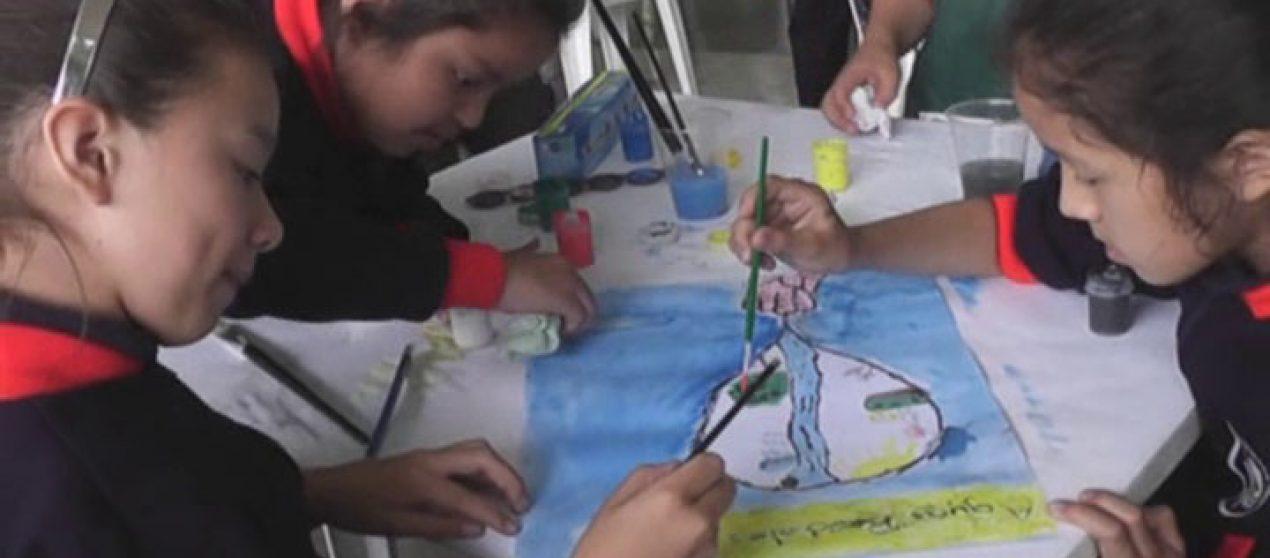 (Video) Niños demostraron a través de la pintura la importancia de conservar el recurso hídrico.