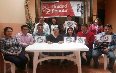 (Video) Unidad Popular,  convoca a los ciudadanos a votar NULO este 2 de abril.