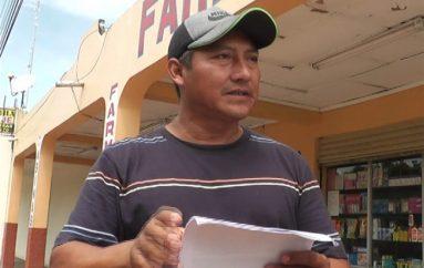 (Video) Morador dice que el Municipio no cumple con el ofrecimiento de eliminar canal de riego.