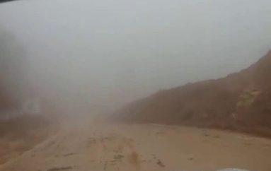 (Video) MTOP, atiende deslizamientos que se producen en las vías por las intensas lluvias.