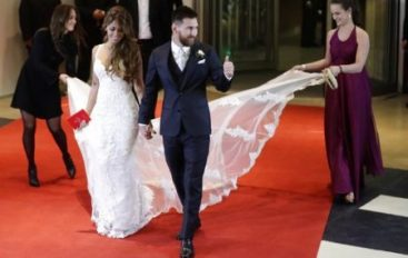 Lionel Messi y Antonella Roccuzzo se casaron en su natal Rosario, en Argentina