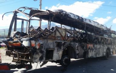 A través de ADN se identificarán restos calcinados de víctimas del bus La Maná