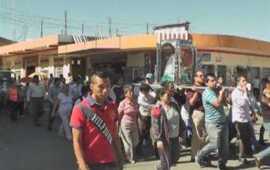 (Video) Imagen de la Virgen de El Cisne estará hasta el sábado en Catamayo