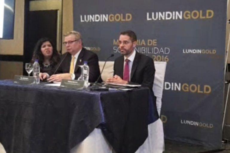 (Video) Compañía Lundin Gold expuso avance de proyectos ante representantes de medios