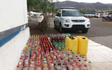 (Video) Comisaría Nacional de Policía junto a Fiscalía incautaron 450 botellas de alcohol artesanal.