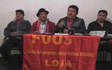 (Video) Coordinadora de movimientos sociales de la provincia de Loja se une a marcha nacional.