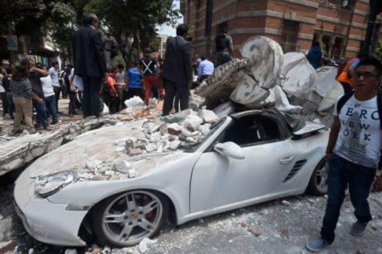 Fuerte terremoto sacudió al centro de México