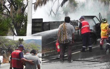 (Video) Transportista de Catamayo perdió su única herramienta de trabajo, en la vía San Pedro-Chinchas