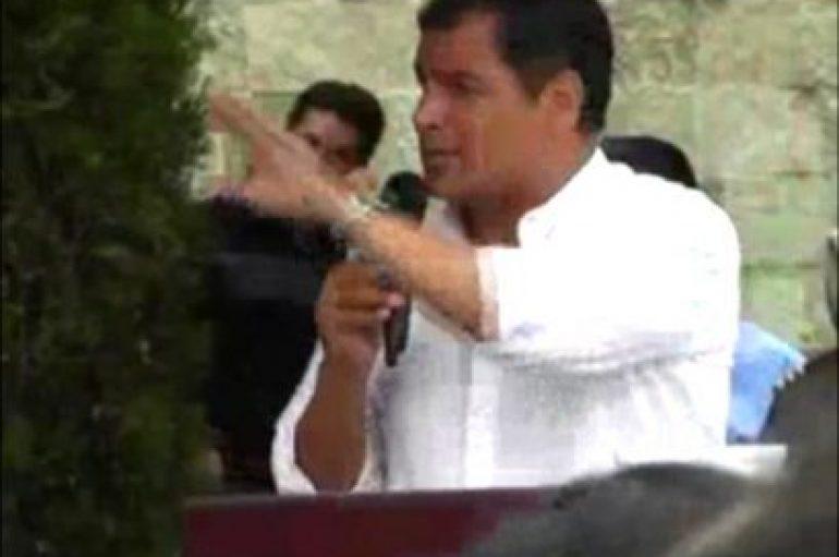 (Video) El regreso del ex-mandatario Rafael Correa divide opiniones en los ciudadanos