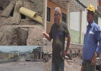 (Video) Reclamos al Municipio de Catamayo por trabajos que llevan más de un mes abandonados
