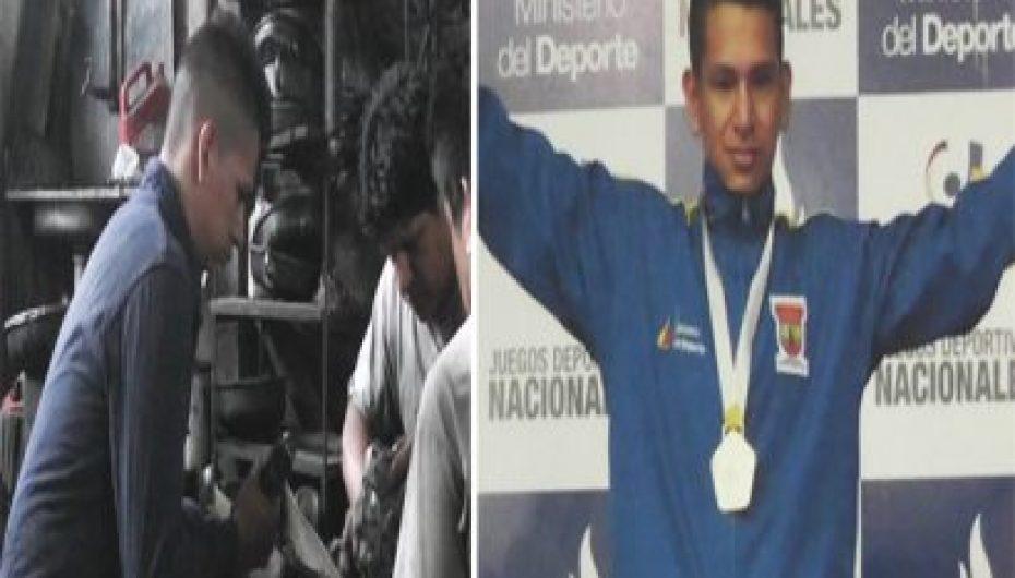 Ismael Chamba; un joven deportista que combina sus estudios con el deporte y la mecánica