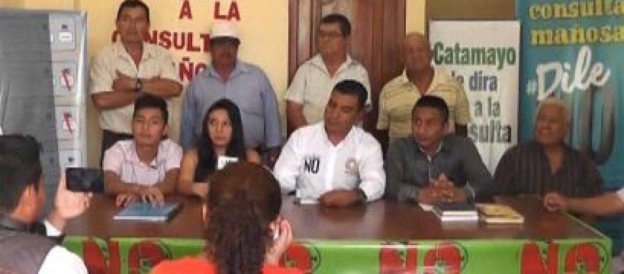 """(Video) Buró político en Catamayo llama a votar """"NO"""" en la consulta popular"""