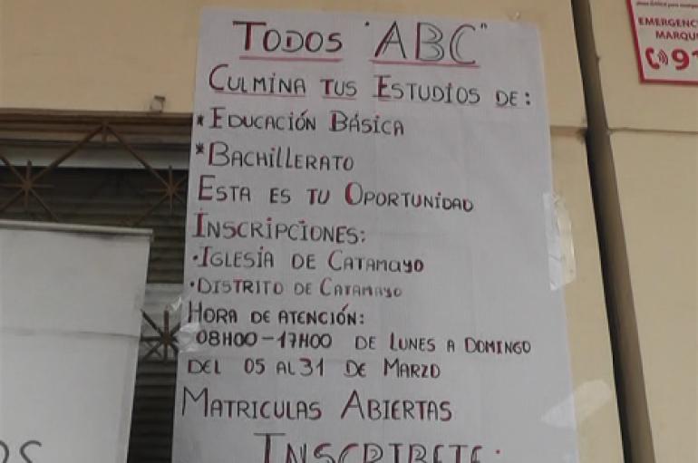 (Video) Distrito de Educación pone a disposición punto de inscripción para modalidades educativas.
