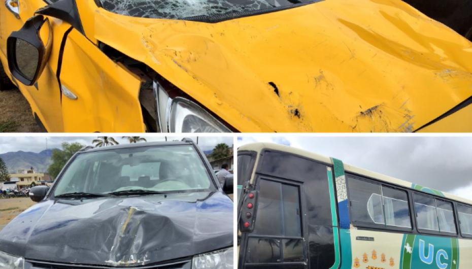 (Video) Vehículo del GAD del cantón Olmedo involucrado en accidente vial