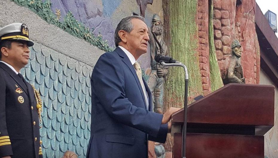Ministro Oswaldo Jarrín: Las Fuerzas Armadas harán respetar el territorio nacional