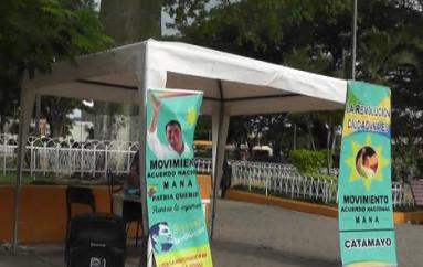 (Video) Continúa el proceso de recolección de firmas para el Movimiento Acuerdo Nacional.