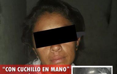 (Video) Mujer detenida por amenazar y robar a un adulto mayor en Catamayo