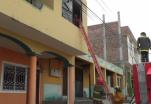 (Video) Una vela causa incendio estructural en Catamayo.