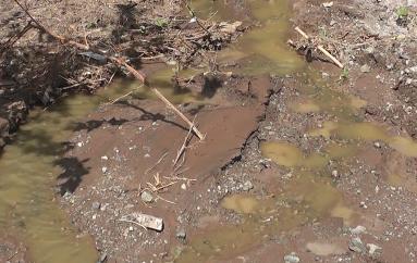Malestar en moradores por aguas servidas que circulan en calles de Trapichillo
