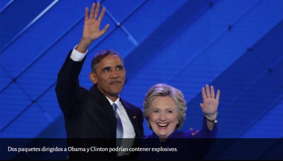 Envían «paquetes explosivos» a políticos demócratas y a CNN.