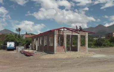 (Video) Avanza con normalidad la construcción de la casa comunal en el sector 15 de noviembre en Trapichillo.