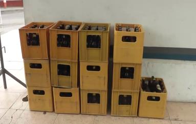 (Video) Comisaria Nacional clausuró una fiesta donde se expendía bebidas alcohólicas.