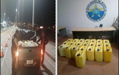 (Video) Más de 400 litros de licor artesanal fueron decomisados por unidad de control fronterizo