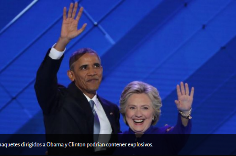 """Envían """"paquetes explosivos"""" a políticos demócratas y a CNN."""