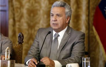 Lenín Moreno se compromete a ir contra los corruptos.