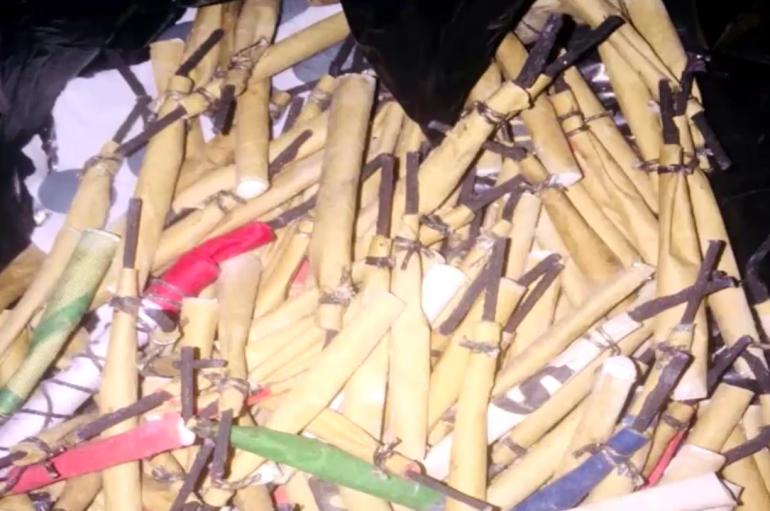 (Video) Más de 300 productos pirotécnicos fueron decomisados por las autoridades en el feriado